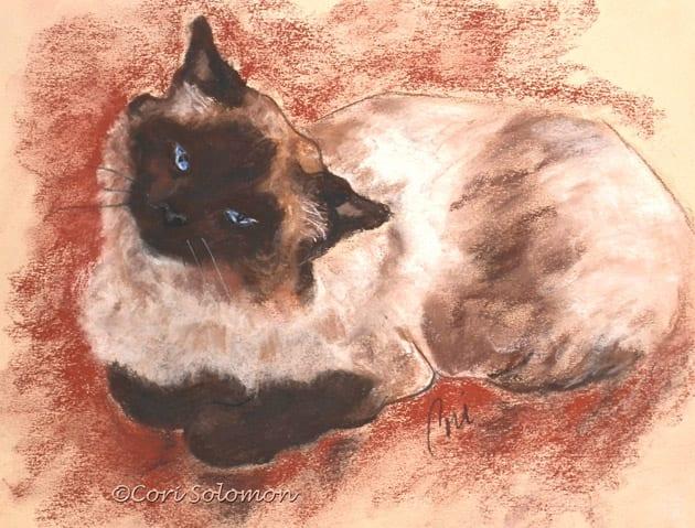 Spirit Cat Art Pastel Drawing By Cori Solomon