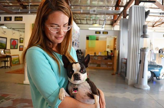 Studios on the Park - Sasha with Boston Terrier
