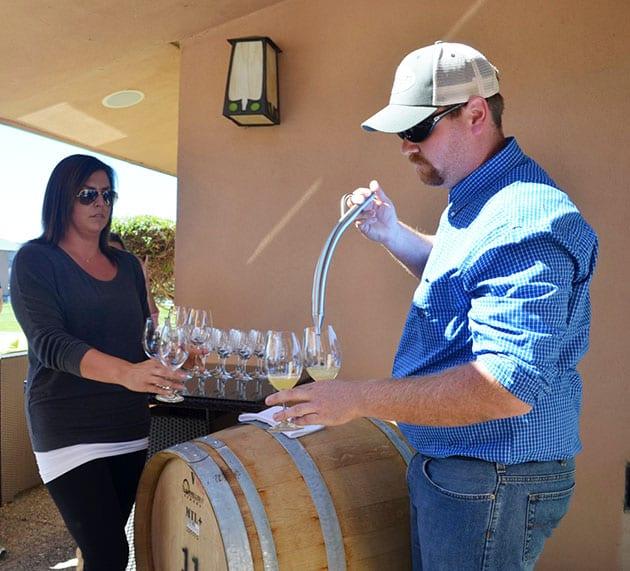 Barrel Sampling Chardonnay