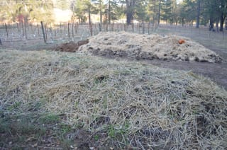 Narrow Gate's Compost Piles