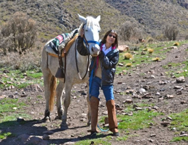 Horseback Riding in the Andes outside of Mendoza