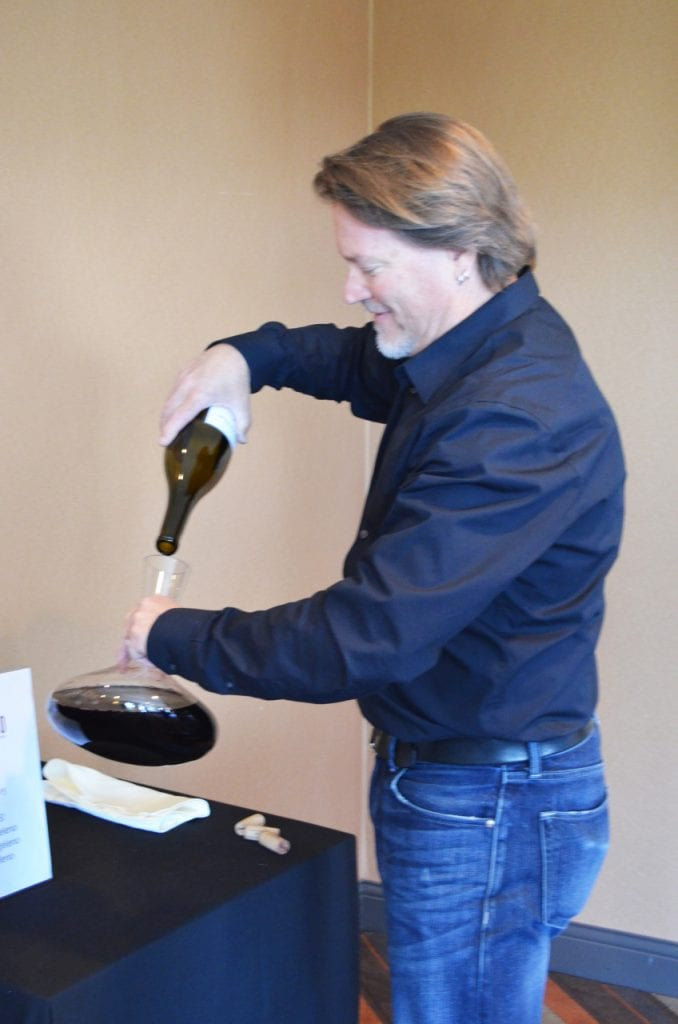 Mark Horvath Decanting Wine
