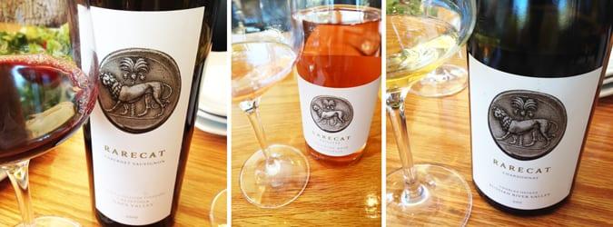Rarecat Wines: Chardonnay, Rosé and Cabernet Sauvignon