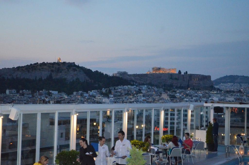 Athens Ledra Hotel Sunset View