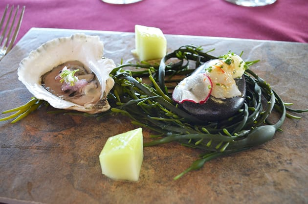 Local Oyster with Pickled Radish