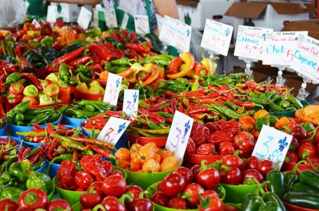 Peppers at Marche Jean-Talon