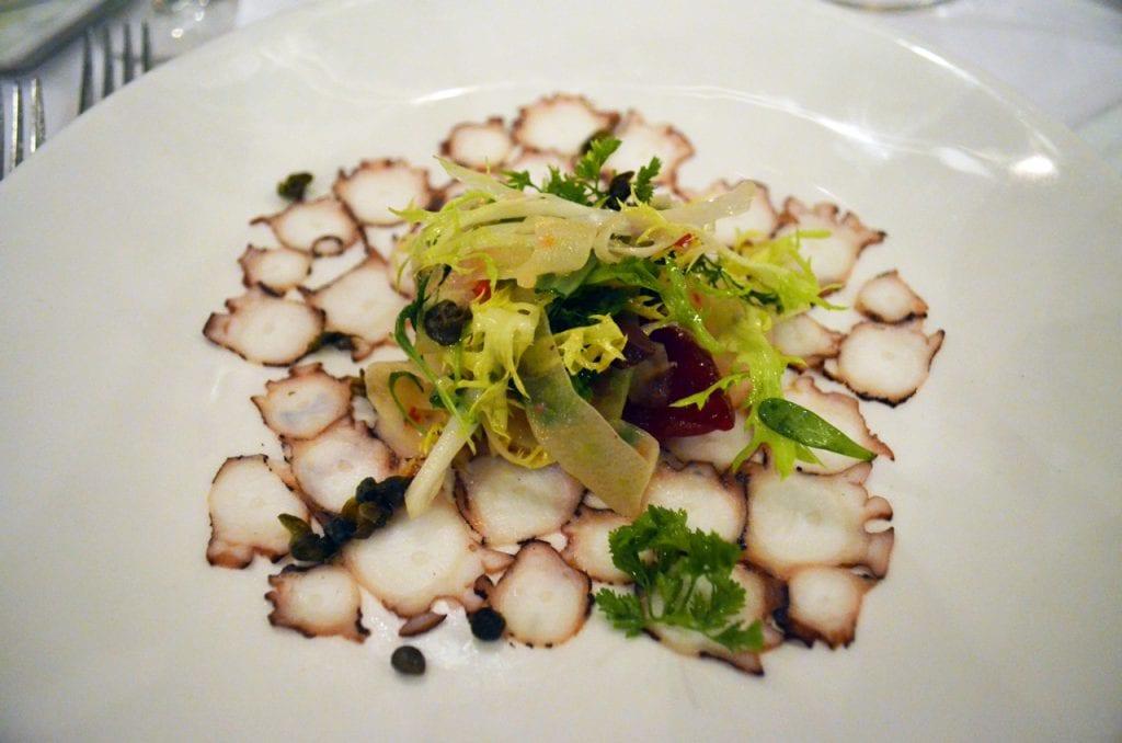 Octopus Carpaccio Cafe Del Rey
