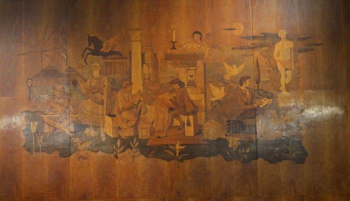 Inlay Wood Panel at Hotel Mediterraneo