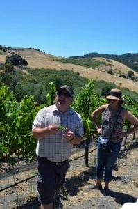 Winemaker Mike Sinor in Bassi Vineyards