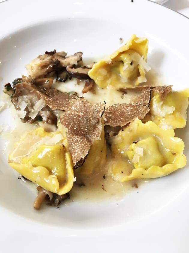 Wild Field Mushroom Tortelloni with Black Truffles