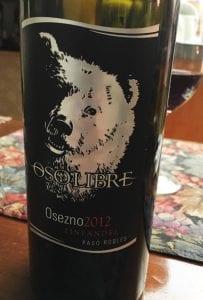 Oso Libre Osezno, a Zinfandel Wine