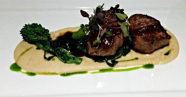 Chef Anthony DeMuro's Seared-lamb-white-bean-truffle-puree