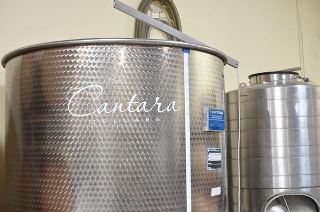 Steel tank at Cantara Cellars in Camarillo