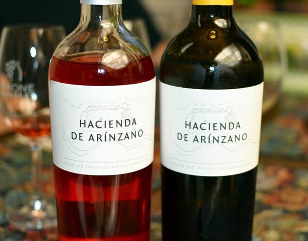 Navarra Do region's Hacienda de Arinzano Rose and Chardonnay
