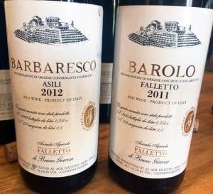 Falletto Barbaresco and Barolo