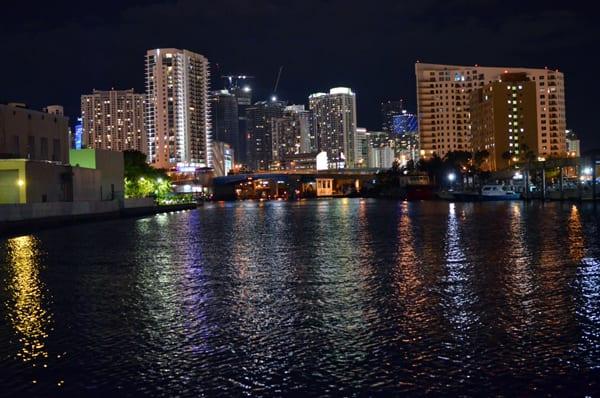 Night Miami South Beach Skyline View