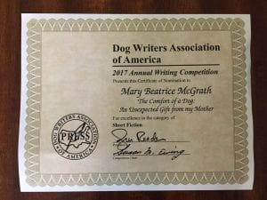 DWAA Finalist Nominee Written Palette Guest Writer, Mary McGrath