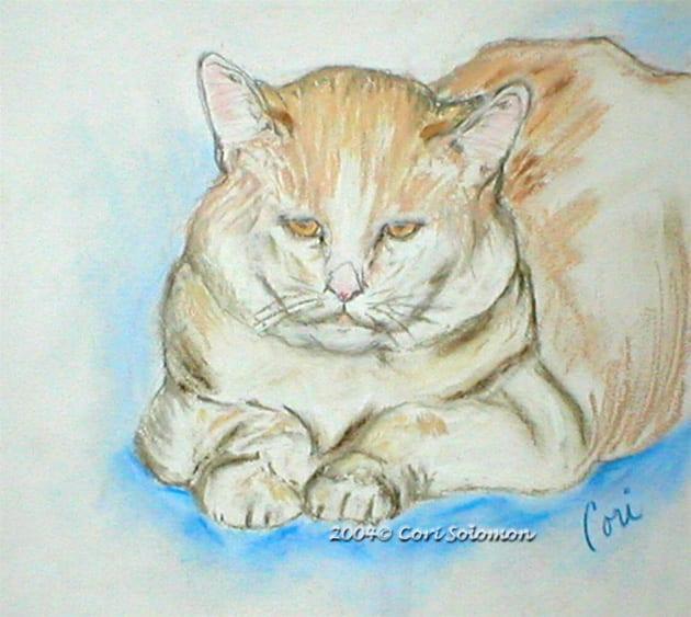 Waiting, Drawing of Albee by Cori Solomon