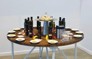 Sampling Olive Oil at Calivirgin Tasting Room