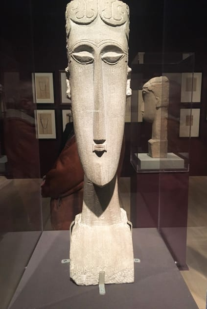 Modigliani Sculpture at the Jewish Museum