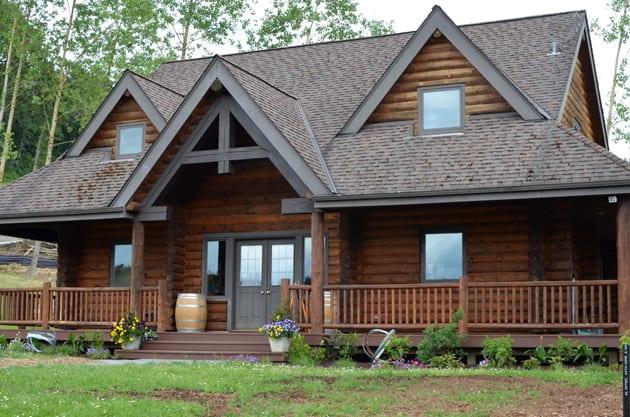 St Innocent Winery Log Cabin Temporary Tasting Room