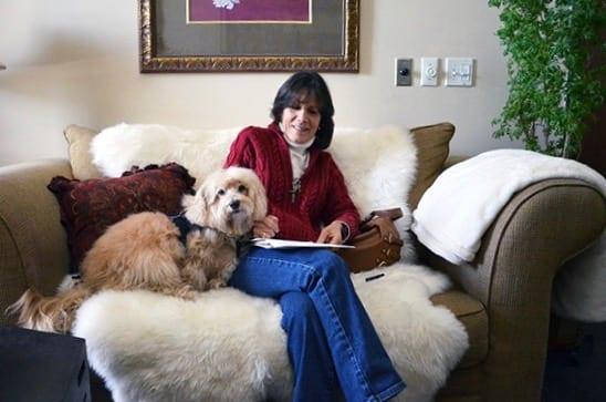 Shelter Dog Murray and Cori Solomon