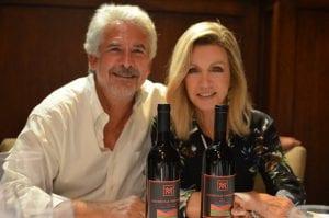 Larry Gilman Donna Mills Mandeville Canyon Winery Mandeville Vineyards