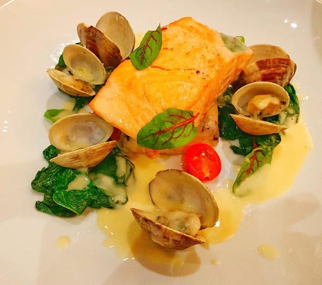 Caxambas Restaurant Naples Florida Seared Norwegian Salmon
