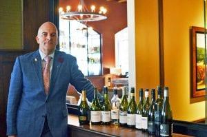 Cameron Douglas with New Zealand Wine