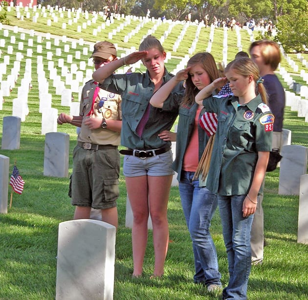 Saluting A Buried Soldier