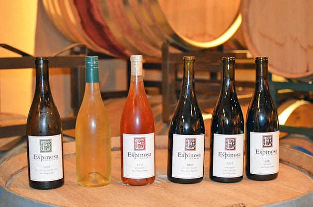 Espinosa Vineyards Wine