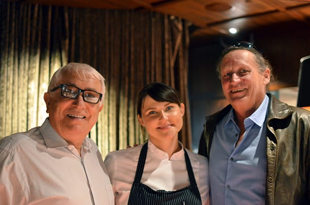 Mike Miller, Chef Holly Jivin and David Powell