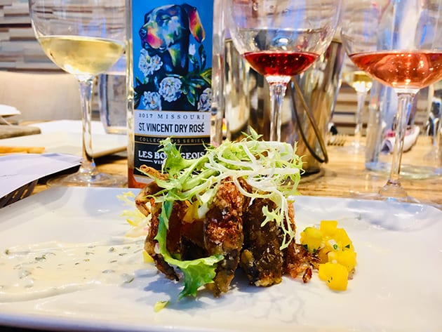St Vincent Rose and Soft Shell Crab