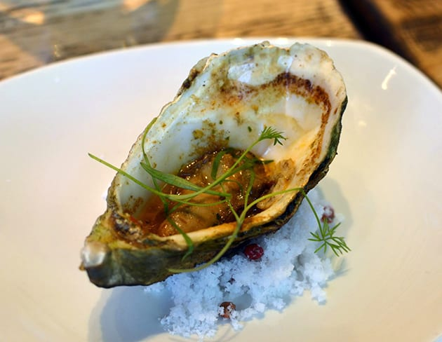 Baked Oyster with Chipotle Herb Butter