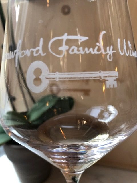 Crawford Family Wines Glass