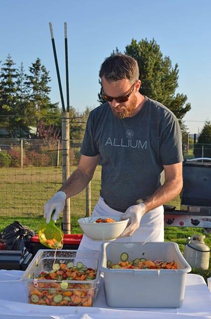Field & Vine Chef preparing farm to table menu