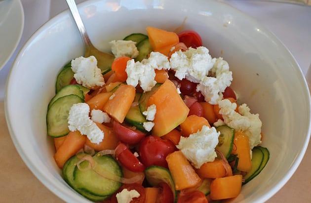 Tuscan Cantelope and Tomato Salad