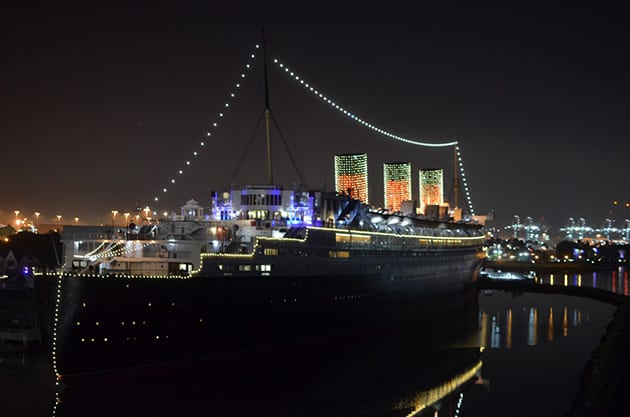 Nightime View Queen Mary