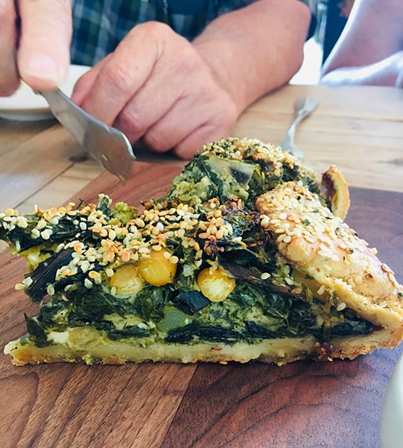 Spinach and Chard Pie at the Zin House