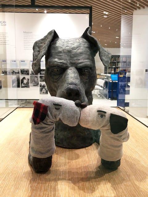 Humorous Dog Sculpture