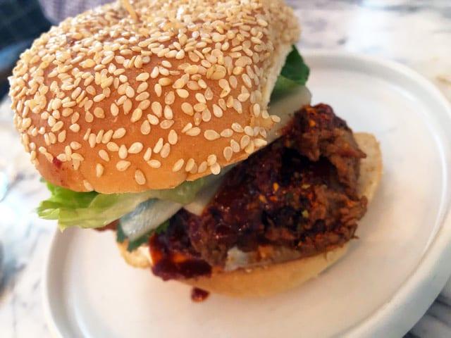 Sibling Rival Togarashi Fried Chicken Sandwich