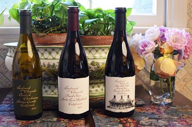 Landmark Chardonnay and Pinot Noir
