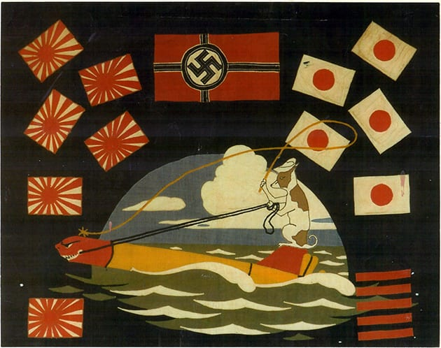 USS Besugo Battle Flag with Sugie Military Mascot
