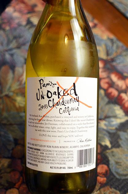 Pam's UnOaked California Chardonnay
