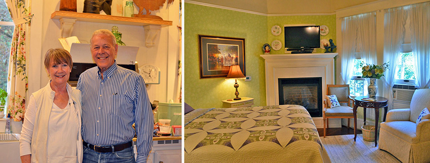 Terry and Al Sande, Owners - Sandes of Time Guest Suite