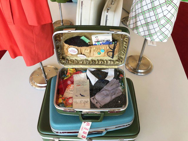 TWA Flight Attendant Suitcase
