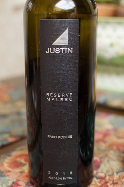 Justin Reserve Malbec