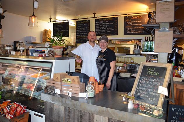 Brian Champlin and Cynthia Miranda at Succulent Cafe