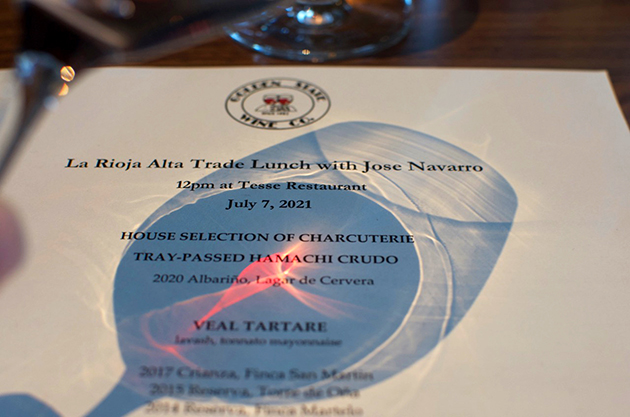 Lunch at Tesse with La Rioja Alta