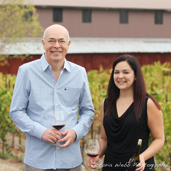 Cecilia Enriquez with her Father